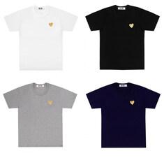 [일본정품] 꼼데가르송 남성 기본 골드와펜 반팔 티셔츠