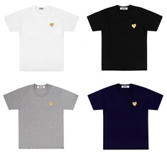 [일본정품] 꼼데가르송 여성 기본 골드와펜 반팔 티셔츠