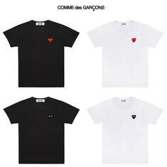 [일본정품] 꼼데가르송 여성 기본와펜 반팔 티셔츠