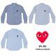 [일본정품] 꼼데가르송 여성 스트라이프 셔츠