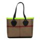 Burberry Canvas Check Bonded Leather Neon Tote 37cm