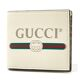 Gucci Logo Print Leather Bifold Wallet