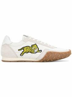 Kenzo Sneakers Con Tigre Ricamata