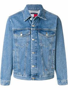 back patch denim jacket