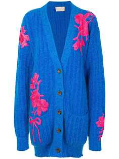 Christopher kane Flower Embroidery Cardigan