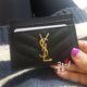 [생로랑] SAINT LAURENT 모노그램 카드 지갑 (423291) - 블랙 금장