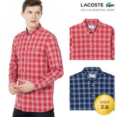 [라코스테](남성)체크 면 슬림 셔츠_CH7503-18A