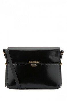 19SS Burberry Borsa a tracolla Grace grande in pelle nera verniciata 렉스몰