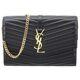 Saint Laurent 19FW black lambskin women Shoulder bag 5568300U6011000
