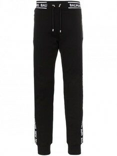 19SS BALMAIN Black Pants with Logo 렉스몰