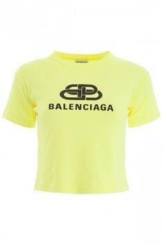 19FW Balenciaga bb logo cropped t-shirt 렉스몰