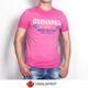 Dsquared2 - (국내배송)디스퀘어드 맨 브로스 1995 워싱반팔티 핑크 74GC0891
