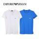 엠포리오 아르마니 armani 알마니 남자 티셔츠 반팔티셔츠 화이트 블루 남성 티셔츠 9P715-111670(WH/BL)