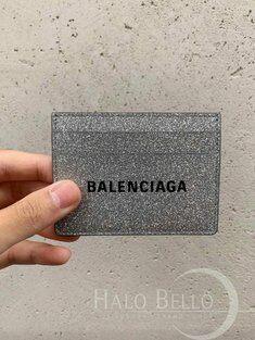 발렌시아가 [배송비, 관부가세 포함] 에브리데이 글리터 프린트 로고 공용 카드지갑 홀더 490620-0XV3N-8106