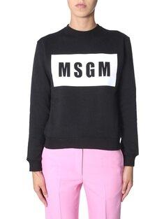 Msgm Crew Neck Sweatshirt FW19