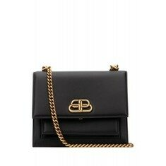 20SS[발렌시아가]Black leather small Sharp shoulder bag _ 5806410D22M 1000