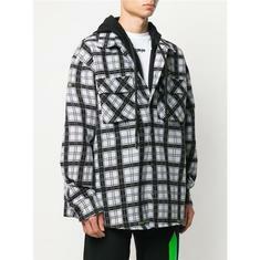 20SS 오프화이트 체크 패턴 레이어드 셔츠 자켓 OMGA1