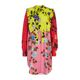 Msgm 20ss 여성 플라워 프린트 셔츠 원피스 핑크 2841mda166y 207162 12 20 S/S