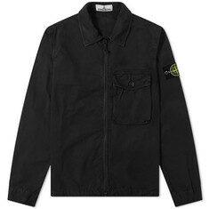 스톤 아일랜드 20SS 가먼트다이드 오버셔츠 L XL XXL XXXL 블랙 코튼 남성 캐주얼 자켓 7215114WN V0129
