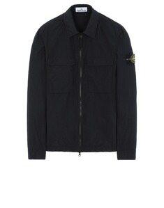 스톤 아일랜드 20SS 투포켓 오버셔츠 블랙 남성 캐주얼 자켓 721511102-V0029
