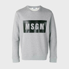 MSGM Box Logo Sweatshirt 맨투맨 1000MM68 100101 96