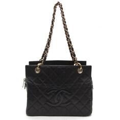 Chanel(샤넬) 블랙 캐비어 정방 금장 체인 숄더백(9번대)