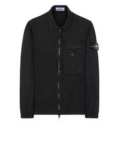 스톤아일랜드 T.CO+OLD 와펜 오버셔츠 자켓 블랙 20FW 107WN