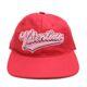 VALENTINO(발렌티노) 바시티 핑크 자수 로고 레드 볼캡 57