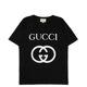 [구찌]20FW 493117 X3Q35 1289 남성 인터로킹 티셔츠 오버핏 블랙