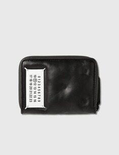 메종마르지엘라 지퍼 어라운드 글램 슬램 지갑 블랙 20FW