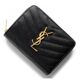 [베로샵] 20FW 생로랑 지갑 403723 BOW01 1000 모노그램 컴팩트 반지갑 블랙 여성반지갑 여자반지갑 발송