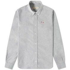 메종키츠네 트로피컬 폭스 클래식 옥스포드 셔츠 블랙 20FW