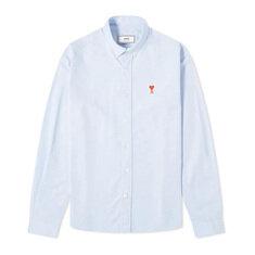 아미 버튼 다운 로고 옥스포드 셔츠 라이트블루 20FW