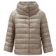 [위즈덤베이] 에르노 소피아 퍼넬넥 퀼팅 다운 재킷
