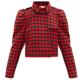 [위즈덤베이] REDVALENTINO 크롭 더블 브레스트 하운드투스 재킷
