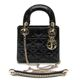Dior(크리스찬디올) M0505 블랙 페이던트 까나주 레이디 디올 미니백 2-WAY