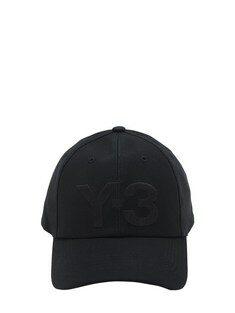 Y-3 Y-3 클래식 로고 코튼 베이스볼 모자