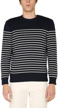 [위즈덤베이]   세인트 제임스 BINIC 스웨터  8645-51_MARINE/ECRU