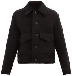 [위즈덤베이] 아미 브러쉬드 버진 울 재킷