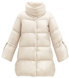[위즈덤베이] 에르노 퍼넬넥 크롭 슬리브 퀼팅 다운 재킷