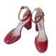 (240mm) Red Calfskin Women's Dress shoes 1I155F