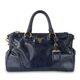 Navy Calfskin Vitello Shine Two way Women's Tote bag