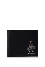Prada Saffiano Travel Bifold Wallet