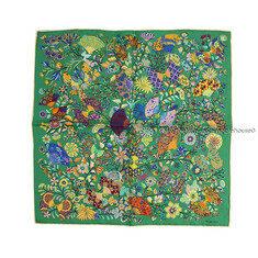 HERMES - 에르메스 쁘띠 실크스카프- 꽃들과 나비들 노블하우스