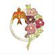 Carlo Zini  Flowers Brooch