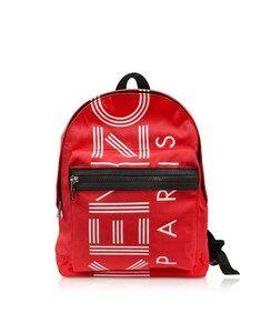 Red Nylon Medium Kenzo Sport Backpack