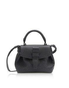Charlie Nano Black Full-Grain Satchel Bag