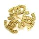 CHANEL Triple Coco Brooch Gold Accessories Vintage 90057068..