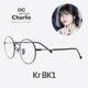 | Other Brand | optician charlie - 옵티션찰리 KR BK1 트리플포인트 연예인안경 동그리안경