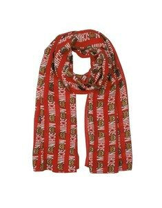 Teddy Bear and Signature All Over Printed Modal Stole